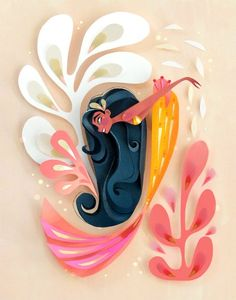 This item is unavailable Crafts To Do, Paper Crafts, Mermaid Party Decorations, Kawaii Wallpaper, Disney Diy, Mermaid Art, Paper Cutting, Cut Paper, Fun Prints