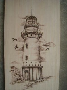 Znalezione obrazy dla zapytania lighthouse drawings