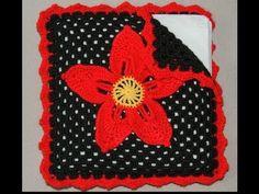 Crochet : Servilletero Navideño.  Parte 2 de 2 - YouTube