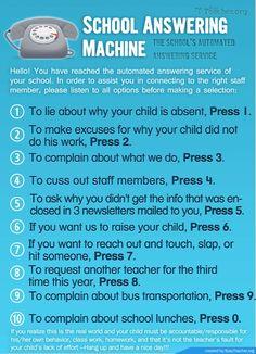 School answering machine