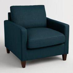 Azure Blue Textured Woven Abbott Chair