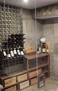 Porta #bottiglie #design in acciaio Esigo 2 Net per arredamento #cantina privata - & 42 best Arredamento Esigo per cantine - Esigo wine cellar furniture ...