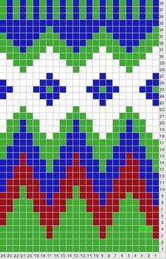 Bead Patterns for Loom Work or Square Stitch ___ Tapestry Crochet Patterns, Bead Loom Patterns, Beading Patterns, Cross Stitch Patterns, Stitch Crochet, Crochet Chart, Crochet Stitches, Knit Crochet, Knitting Charts