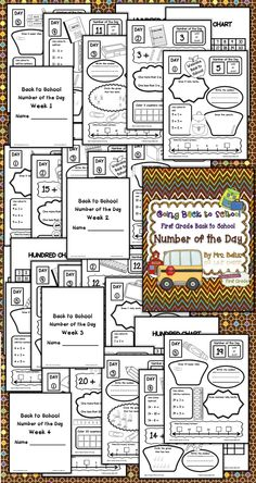 Number of the Day: Going Back to School gives your students a lot of practice working with numbers, representation and relationships. All students need daily practice working with numbers to effectively develop their number sense. This unit reviews number sense from the Kindergarten Common Core Math Curriculum and introduces the beginning of the First Grade Common Core Math Curriculum. $