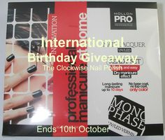 The Clockwise Nail Polish: International Birthday Giveaway
