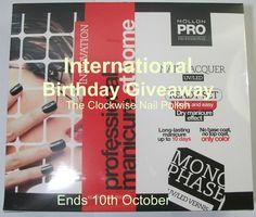 The Clockwise Nail Polish: International Birthday Giveaway
