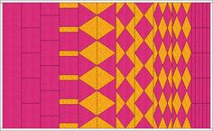 This lesson we are going to work with Vertical Strip quilts. They are a very under-appreciated layout style that need a lesson... and they just happen to give really cool results when used with Kaleidoscopes.
