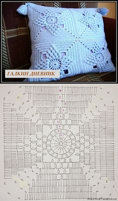 Best 11 Silvina Ponzio's media content and analytics – SkillOfKing. Crochet Bedspread Pattern, Crochet Edging Patterns, Crochet Motifs, Granny Square Crochet Pattern, Crochet Diagram, Crochet Squares, Crochet Doilies, Diy Crafts Crochet, Crochet Home
