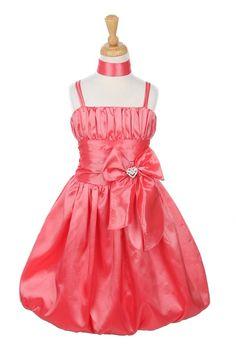 - Girls Dress Style CORAL Taffeta Spaghetti Strap Bubble Dress - Corals, Peaches, Oranges - Flower Girl Dress For Less Coral Flower Girl Dresses, Coral Dress, Dress P, Dress Outfits, Dance Dresses, Ball Dresses, Girls Dresses, Toddler Dress, Toddler Outfits