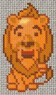 Free Cowardly Lion cross stitch pattern oz 02[1].gif.thumb
