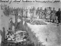 Burial of Sioux Indians after Massacre at Wounded Knee by Unknown Artist