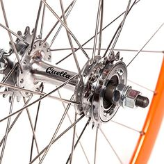 Quella Orange Single Speed Deep-V Fixie Flip-Flop hub Wheels - UKsportsOutdoors Speed Bike, Cycling Accessories, Fixed Gear, Cycling Gear, Road Bikes, Flip Flops, Wheels, Bicycle, Deep