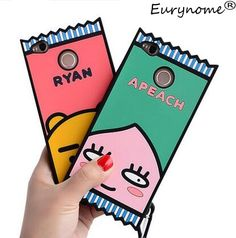 3D Cute cartoon RYAN Lion Pink Peaches soft silicone case cover For xiaomi redmi 4X redrice 4x with screen film and pen ** Click the VISIT button to enter the AliExpress website