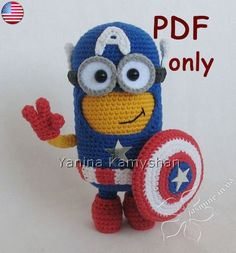 Hero Monster amigurumi crochet PDF pattern