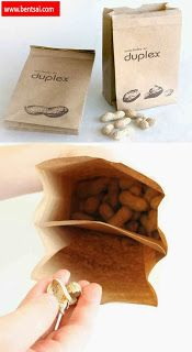 Peanut Bag with compartment for shells   All credits goes to the designer. Bags Food-And-Drinks Ideas Peanuts