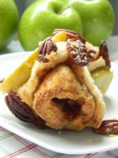 Apple, Cinnamon, Pecan swirl biscuits.