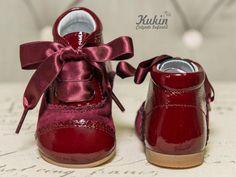 botas burdeos landos botas niña - botas niño - calzado infantil - kukin