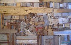 Driftwood Collage - artist George Morrison