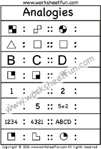 Non Verbal Reasoning Type  Worksheet    Google