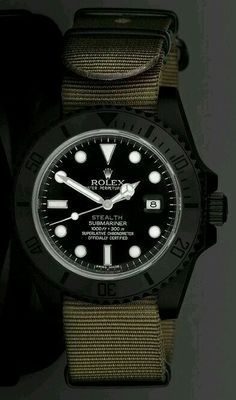 0c90a1f2a37 Not normally a huge Rolex fan but like this. Project X Designs Stealth  Customized Rolex Submariner Watch