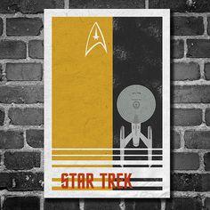 Cartel de Star Trek USS Enterprise movie poster minimalista cartel estrella…