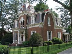 Interesting and lovely second empire, I think, with gambrel-esque roof in Salem, Virginia
