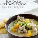 Slow Cooker Chicken Pot Pie Soup {glutenfree, dairyfree}