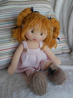 Lola 3 wip - - Lola by Irishmagda Published in Dolly Delights Seven Rainbows gallery. Knitted Doll Patterns, Crochet Doll Pattern, Knitted Dolls, Crochet Dolls, Knitting Patterns Free, Free Knitting, Baby Knitting, Knitted Teddy Bear, Knitted Baby