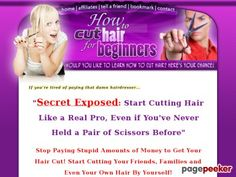 Learn How To #Cut_Hair As A Beginner - #HowToCutHairForBeginners Nowadays, I have a part time business cutting the hair of my friends, and neighbours. They all started asking me where I got my hair cut – and I just told them I did it myself… and things kind of took off from there.