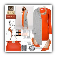 """Orange Crush"" by dollz-n-donz ❤ liked on Polyvore featuring Fendi, Courrèges, Acne Studios, L.K.Bennett, Lanvin, Kate Spade, HIDE and Kevyn Aucoin"