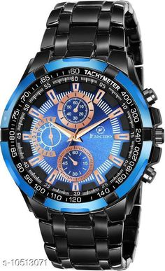 Checkout this latest Watches Product Name: *Skylark Sky-2964 BLK Analog Round Blue Dial With Black Steel chain belt | Analog Watch - For Men* Strap Material: Metal Display Type: Chronograph/ Multifunctional Size: Free Size Multipack: 1 Easy Returns Available In Case Of Any Issue   Catalog Rating: ★4 (247)  Catalog Name: Free Mask Unique Men Watches CatalogID_1920062 C65-SC1232 Code: 853-10513071-9911