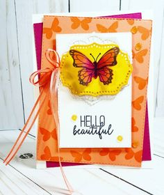 Butterfly Beautiful by holley smith - Cards and Paper Crafts at Splitcoaststampers Cool Cards, Diy Cards, Fun Crafts, Paper Crafts, Split Coast Stampers, Beautiful Posters, Have A Blessed Day, Global Design, Hello Beautiful