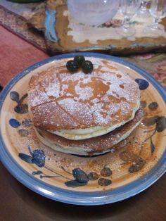 pancake americani alla nutella e sciroppo d'acero