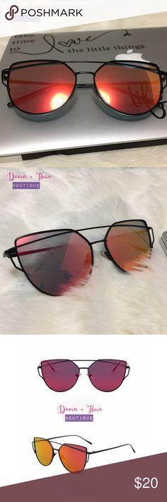4d5a47488de Last 1‼ HP 4X 💖 Red Cat Eye Mirrored Sunglasses Boutique
