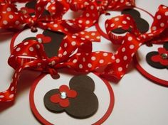 Minnie Mouse Gift tags (favor bags)