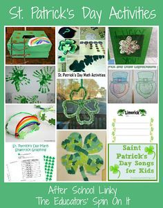 St. Patrick's Day Activities for School Ages featured at The Educators' Spin On It