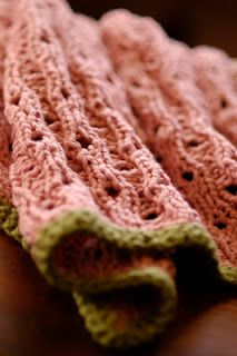 Knit 1 LA: Baby Iselle's Blanket. Love this pattern and the watermelon colours!