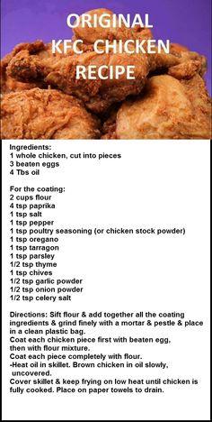 Kfc Original Fried Chicken Recipe, Kfc Original Recipe, Kfc Chicken Recipe, Indian Chicken Recipes, Fried Chicken Recipes, Baked Chicken, Crusted Chicken, Lime Chicken, Orange Chicken