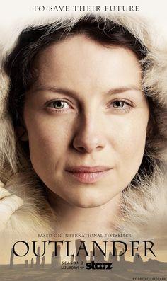"""#Outlander Season 2 Poster: Claire (Fan-made)"""