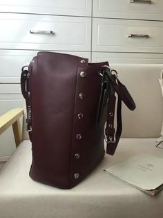2016 A  Mulberry Maple Tote Bag Oxblood Smooth Calf with Studs -   Mulberry  Outlet UK Team 6a5d46731f9c0