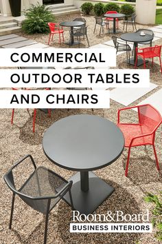 More than just modern, our commercial outdoor dining tables, chairs and benches feature durable, low-maintanance materials.