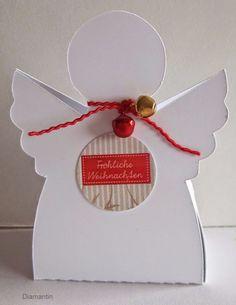 """Ангелочек - упаковка для маленького подарка """" Шаблон"""