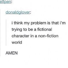 Amen hallelujah// yeah, I have kind of typecast myself as a nerd and am looking for a main plot to fulfil