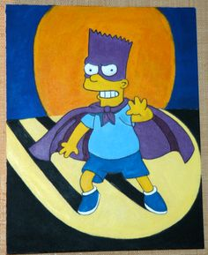 Bart Simpson on Behance Bart Simpson, Smurfs, Behance, Paintings, Drawings, Fictional Characters, Paint, Painting Art, Sketch