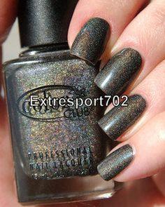 Color Club ~ REVVVOLUTION ~ Holographic Shimmer Dark Charcoal Nail Polish