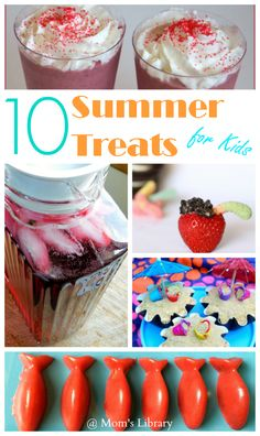 10 Summer treats for kids including, Homemade Kool-aid alternative, beach cupcakes and DIY Swedish Fish gummies