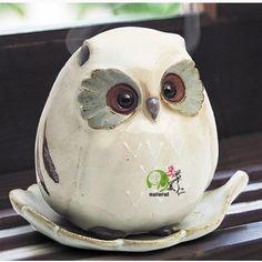 Clay Birds, Ceramic Owl, Cute Owl, Air Dry Clay, Pottery, Sculpture, Ceramics, Shapes, Tableware
