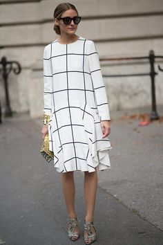 #OliviaPalermo always keeps us in check with monochrome dressing. #THEOUTNET http://outnet.co/20qiYBz