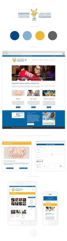 Lakeshore General Hospital Foundation New Website Design Mockup