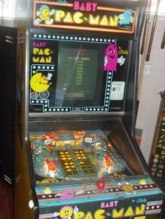 Baby Pac-Man, a combination of Pinball and video-game. This game was @KonalanShellSimpukka in early 80's